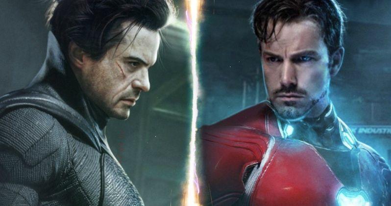Robert Downey Jr. Is Batman & Ben Affleck Is Iron Man in Amazing Character Swap