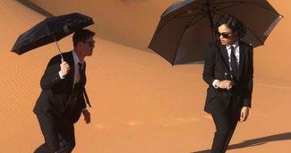 New Men in Black Photo Sends the Agents Running Through the Desert