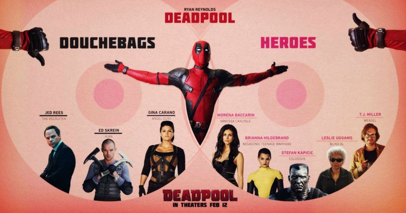 Deadpool Infographic Separates the Heroes from the Villains
