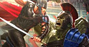 Thor Battles Gladiator Hulk in Stunning New Ragnarok Poster