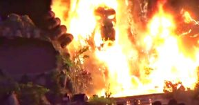 Watch King Kong Go Up in Flames at Skull Island Vietnam Premiere