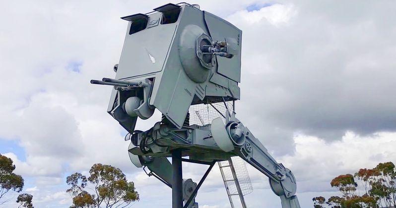 Officials Demand Star Wars Fan Remove Huge AT-ST Roadside Replica