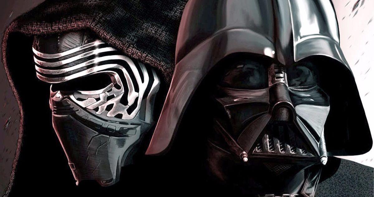 Leaked Star Wars 9 Art Shows Kylo Ren Vs. Darth Vader Fight from Trevorrow's Script?