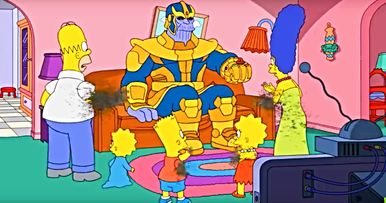 Thanos Decimates The Simpsons in New Couch Gag Video