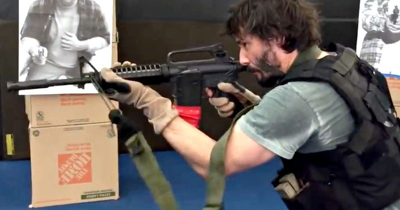 Keanu Reeves Goes Gun Training in New John Wick 2 Video