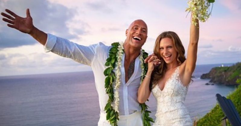 The Rock Shares Photos from His Secret Wedding Over the Weekend to Lauren Hashian