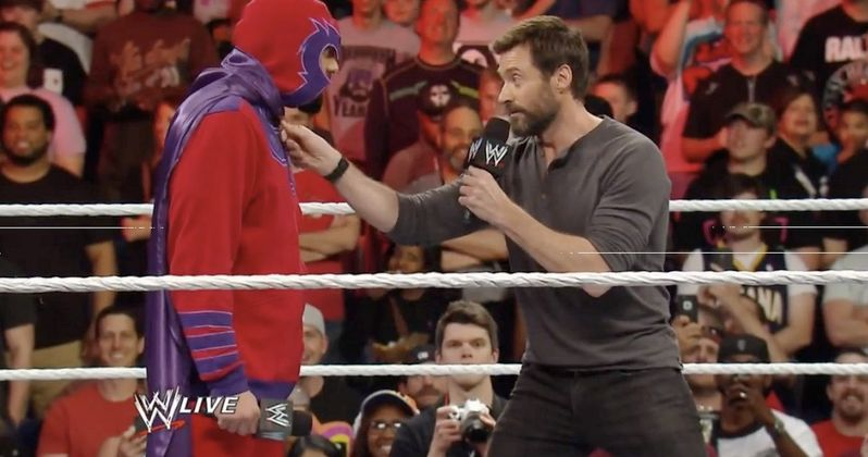 Watch Hugh Jackman Battle Fake Magneto on WWE Raw!