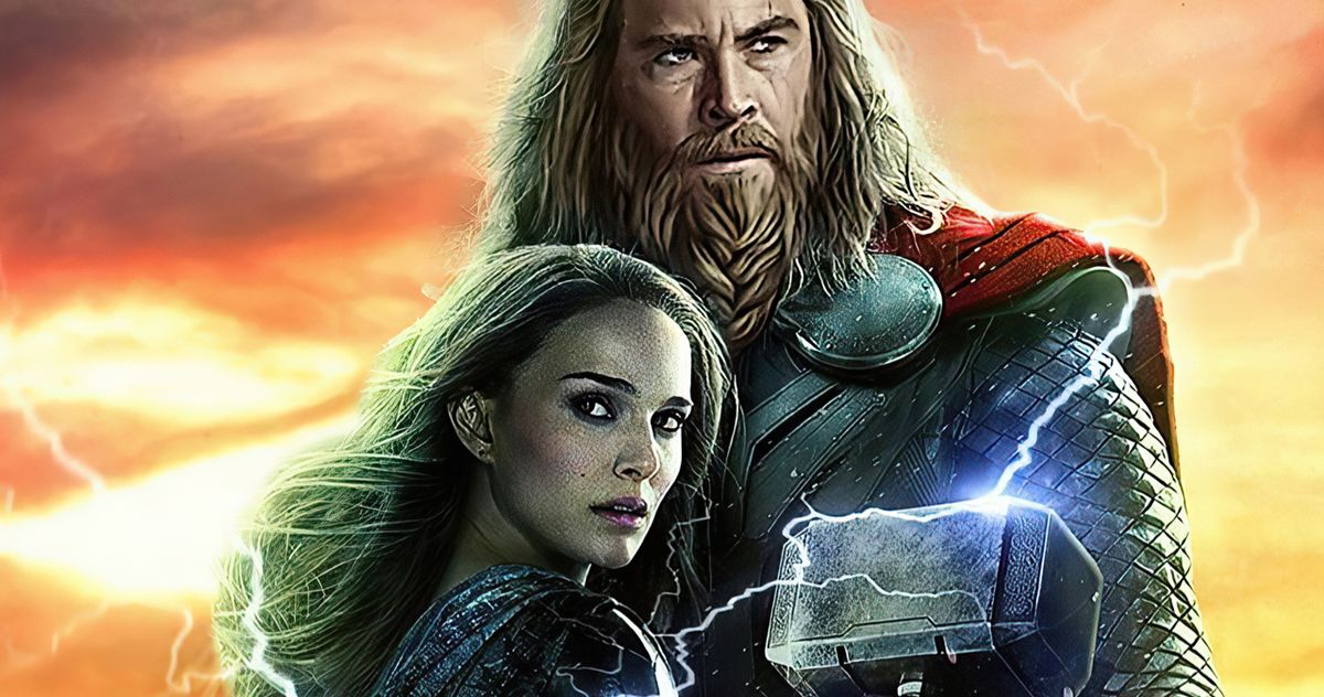 The Mighty Thor Retrieves Mjolnir in Love and Thunder Set Video Featuring Natalie Portman - MovieWeb