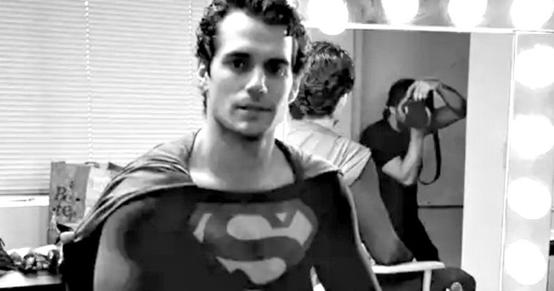 Henry Cavill Wears Christopher Reeve's Superman Costume in Screentest Photo
