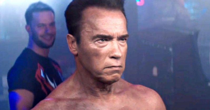 Watch Schwarzenegger Recreate Terminator 2 Scene with WWE Superstars