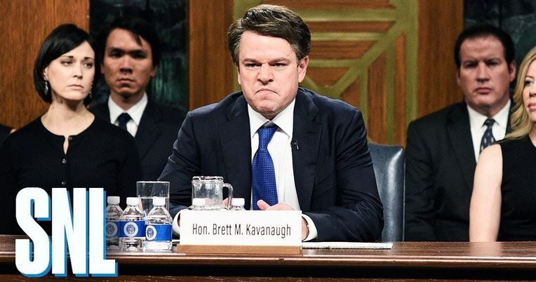 Matt Damon Is a Beer Chugging, Rage Fueled Brett Kavanaugh in SNL Cold Open