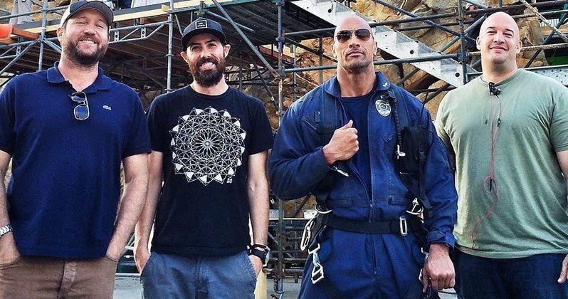 New San Andreas Set Photo with Dwayne Johnson
