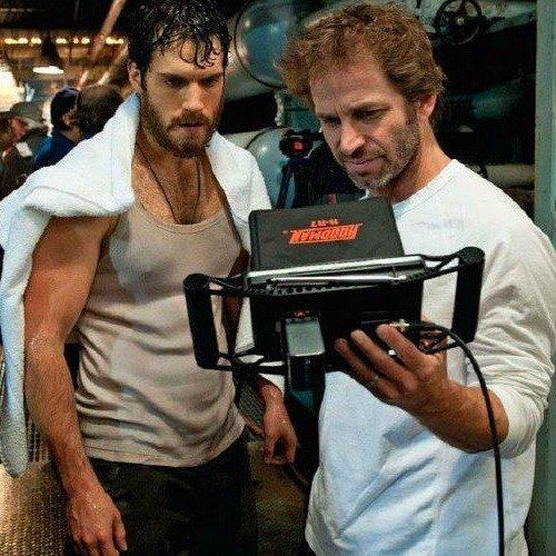New Man of Steel Photos with Henry Cavill and Director Zack Snyder