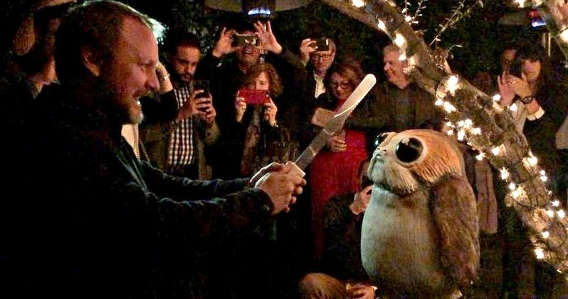 Watch The Last Jedi Director Slice Into a Realistic Porg Cake