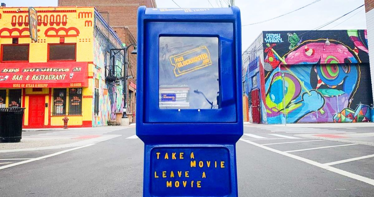 Blockbuster Video Rental Box Detroit