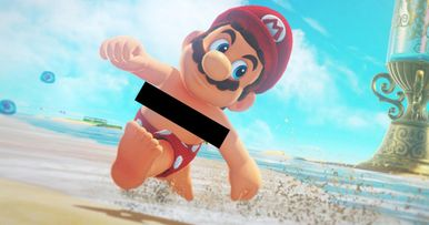 Super Mario Has Nipples and the Internet Is Freaking Out