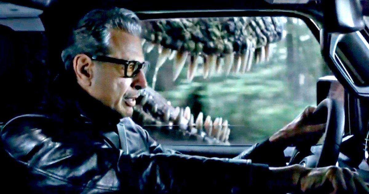 Jeff Goldblum Outruns a T-Rex in Jeep's Jurassic World 2 ...