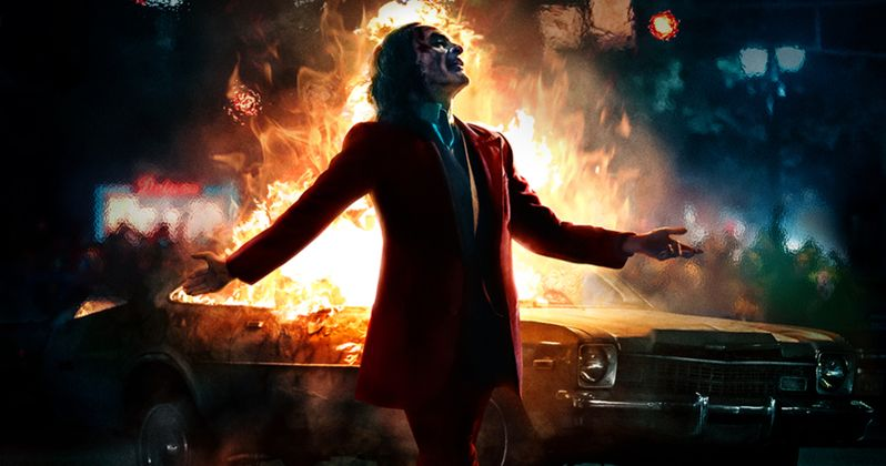 Joker IMAX Poster Has the Clown Prince Ready to Set the World on Fire