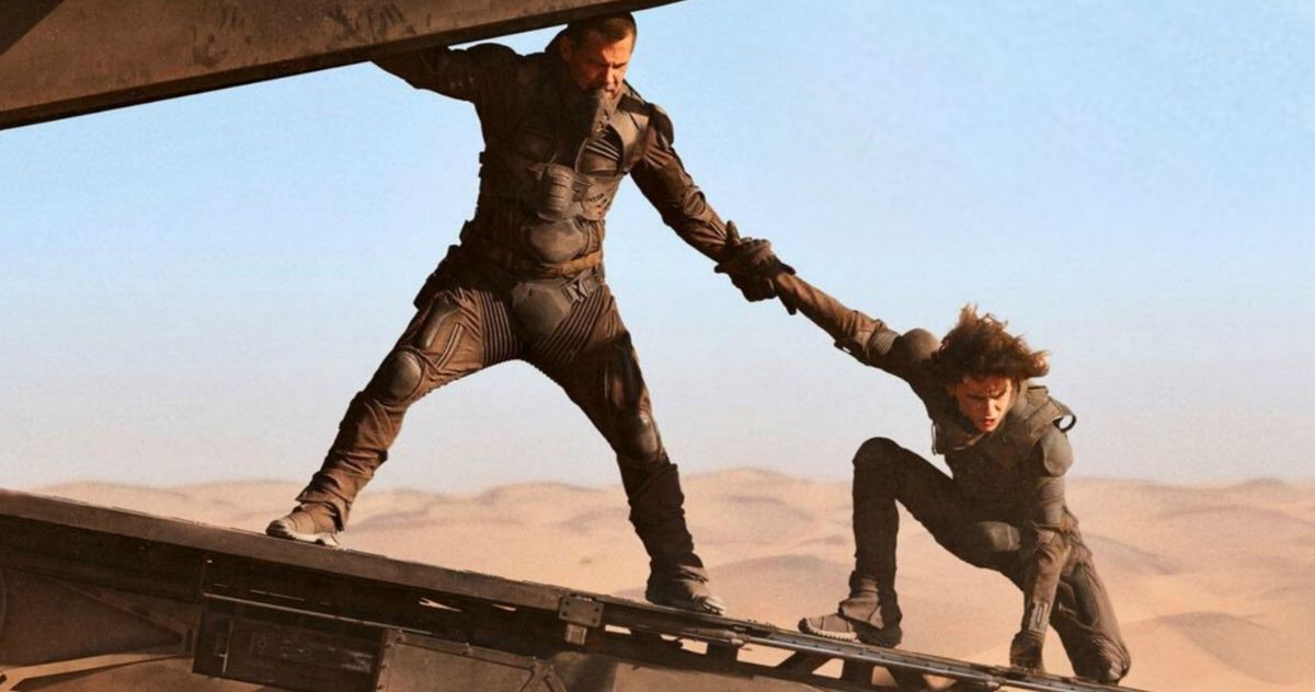 New Dune Image Puts Josh Brolin and Timothee Chalamet on the Edge of Danger