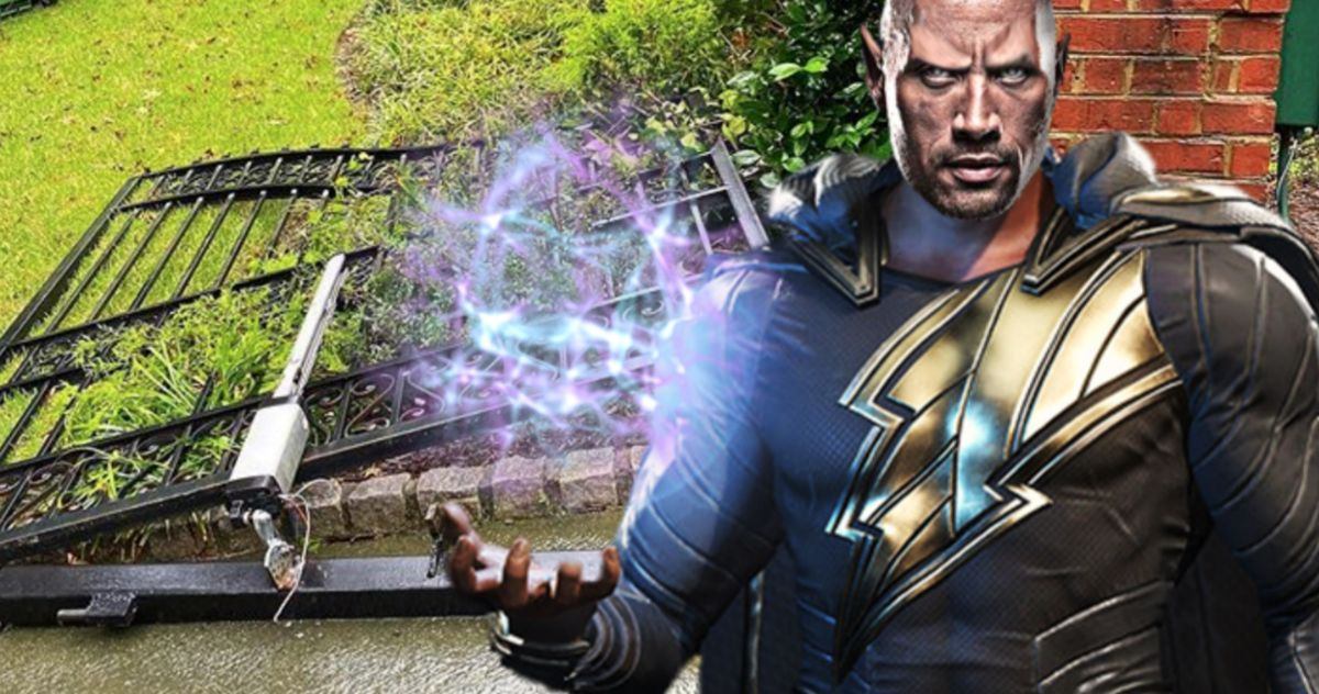 The Rock Rips Down Metal Gate with His Bare Hands: I'm 100% Ready to Be Black Adam