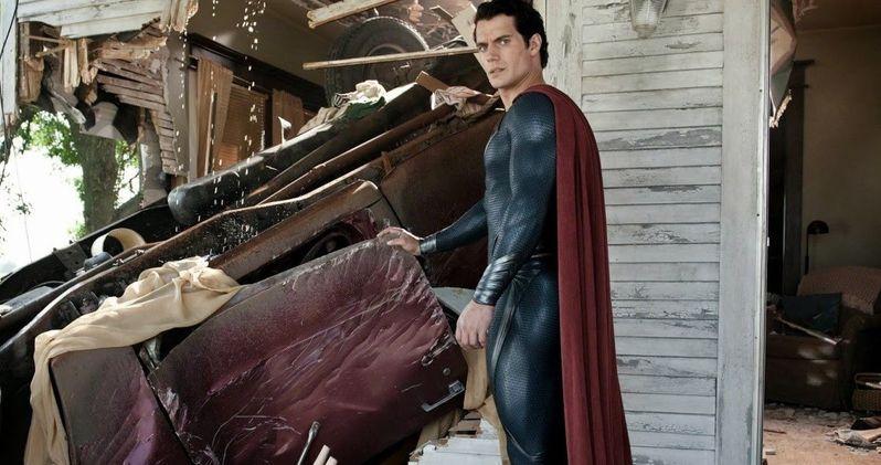 Henry Cavill Suits Up in Batman v Superman Set Photo