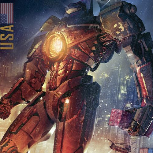 Pacific Rim Poster with American Jaeger Gipsy Danger
