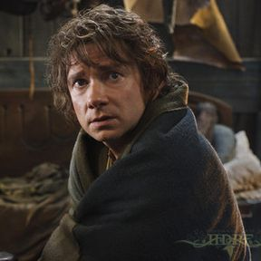 Bilbo Arrives at Lake-town in New The Hobbit: The Desolation of Smaug Photo
