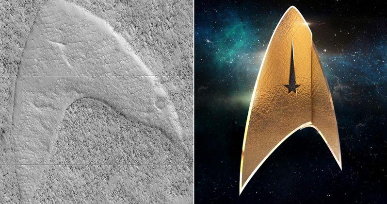 Star Trek Insignia Appears on Mars