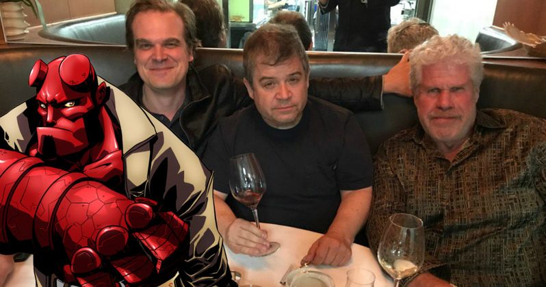 Ron Perlman Passes Hellboy Torch to David Harbour