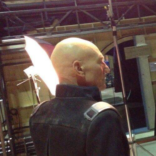 First Photo of Patrick Stewart on X-Men: Days of Future Past Set!