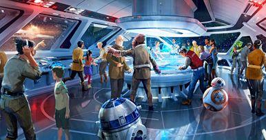 Explore Disneyland's Star Wars: Galaxy's Edge in New Drone Video