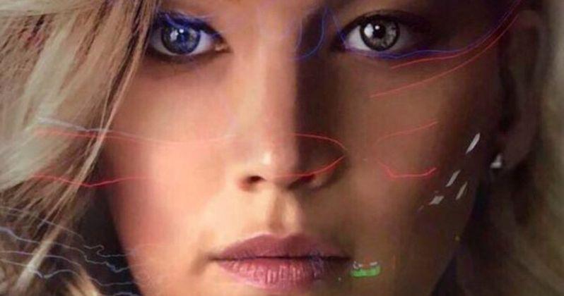 First Passengers Poster Teams Jennifer Lawrence and Chris Pratt