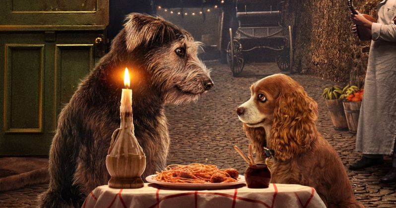 Lady and the Tramp Remake Poster Recreates the Original's Most Iconic Scene
