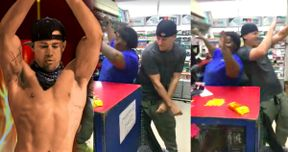 Watch Channing Tatum Reenact Magic Mike with Fan at a Gas Station