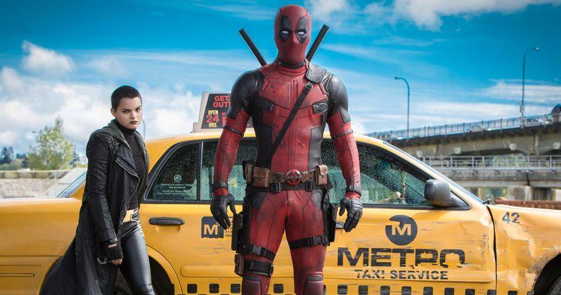 Deadpool & Negasonic Teenage Warhead Hail a Cab in Latest Photos
