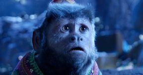 Latest Aladdin Photos Show Villain Jafar and Pet Monkey Abu