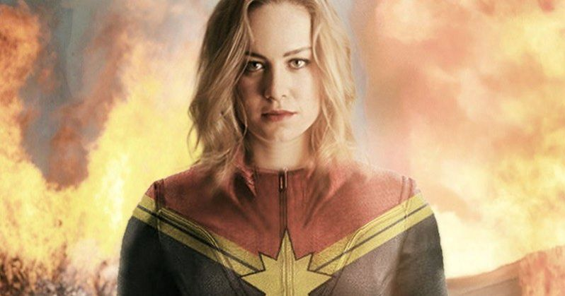 First Look at Brie Larson on Captain Marvel Set?