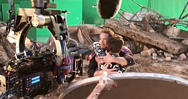 Peter Parker & Tony Stark Reunite in Heartwarming Avengers: Endgame Set Video