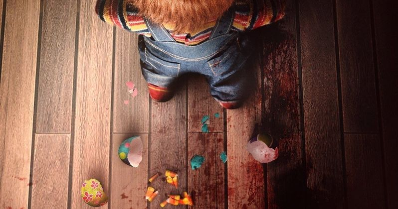 Chucky Goes After the Easter Bunny in Egg Smashing Child's Play Poster
