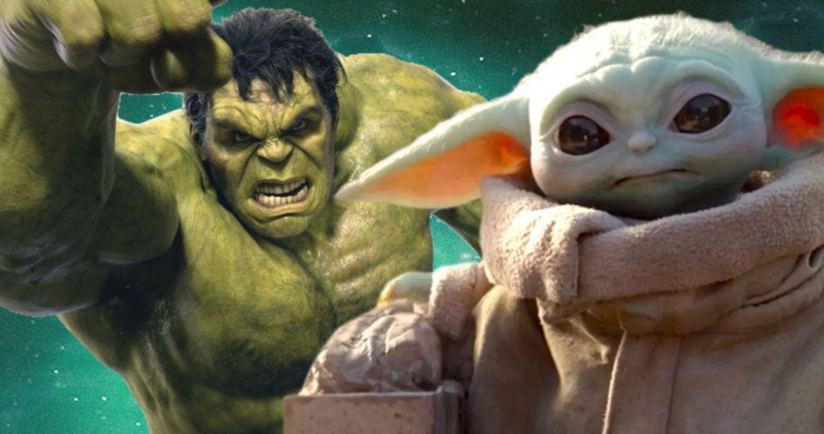 Baby Yoda's Head on Hulk's Body Is Incredibly Swole and Disturbing