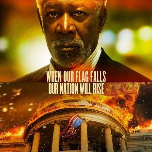 Olympus Has Fallen Morgan Freeman Character Poster
