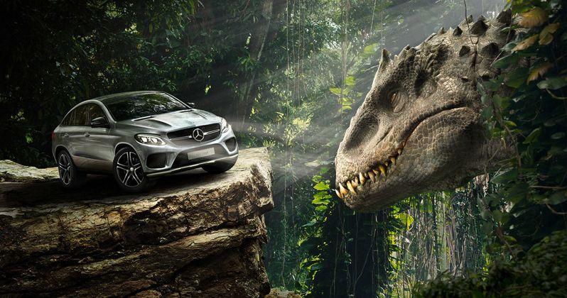 Jurassic World TV Spots: Indominus Rex Vs. Mercedes-Benz!