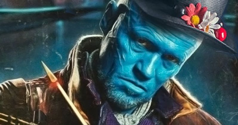 Yondu Rocks Mary Poppins Name Badge at Comic-Con