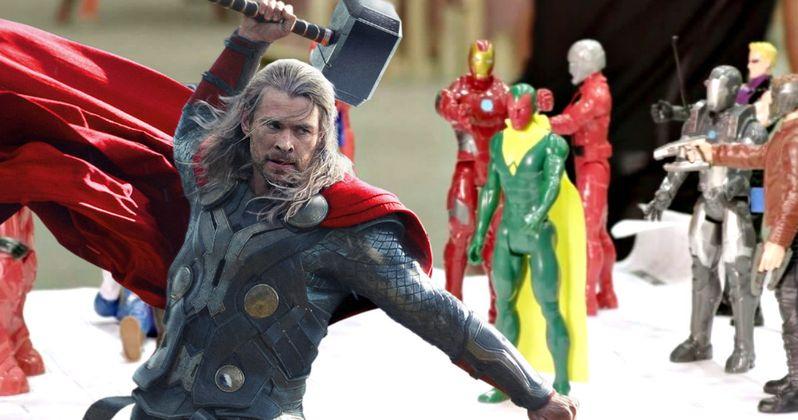 Chris Hemsworth Beats Up Avengers Toys in Hilarious Infinity War Video