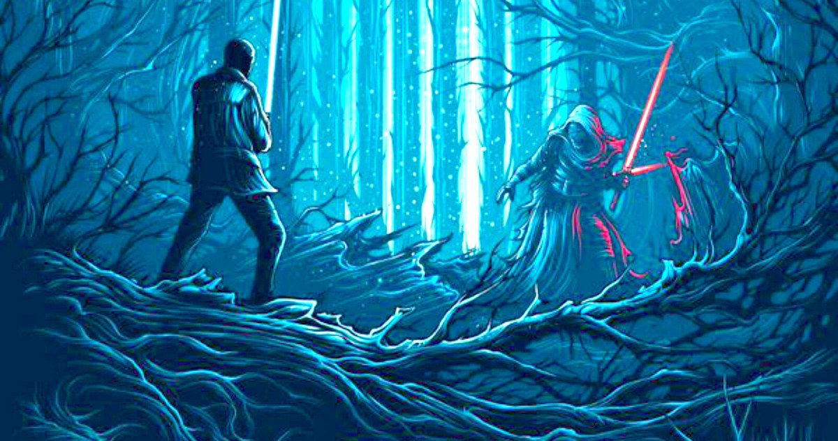 Finn Vs Kylo Ren in Final Star Wars: The Force Awakens IMAX Poster