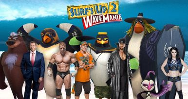 WWE Superstars Catch Wavemania in Surfs Up 2 Trailer