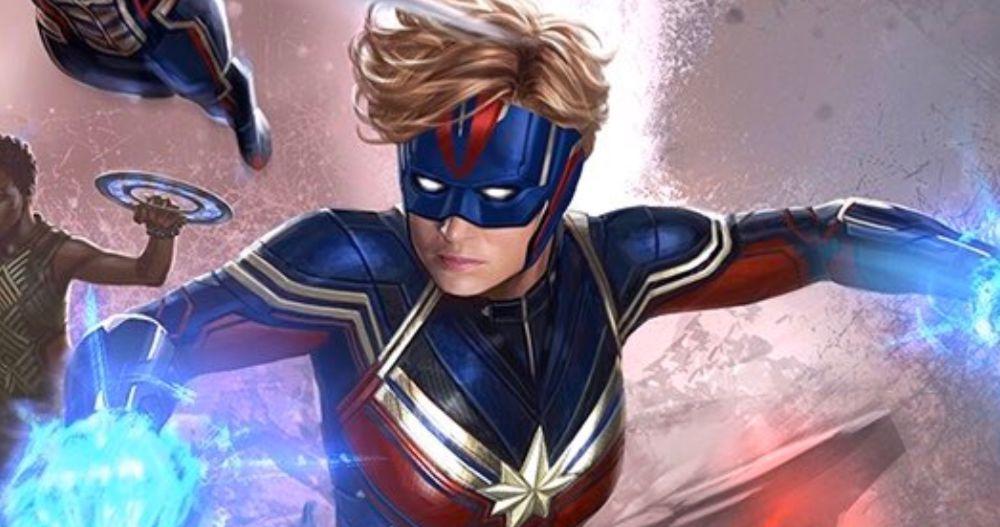 Unused Avengers 4 Concept Art Gives Captain Marvel a New Helmet