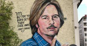 Epic Mural Prank Mistakes David Spade for Kurt Cobain