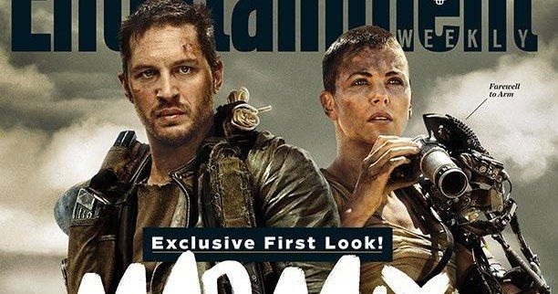 Mad Max: Fury Road EW Magazine Cover with Tom Hardy and Charlize Theron