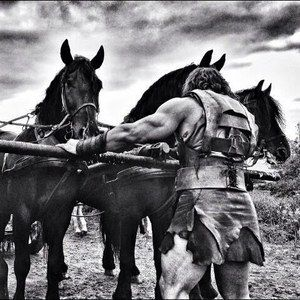 Dwayne Johnson Reveals His Fresian Horse Chariot in New Hercules: The Thracian Wars Set Photo